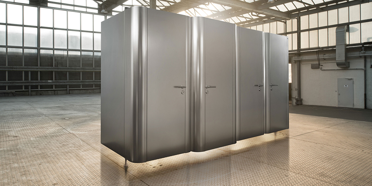 WC-Trennwand Kemmlit Typ hardcell / softcell